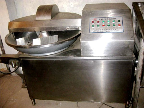 High Speed Meat Chopper Machine Stainless Steel Raw Materials With 3 Sickle